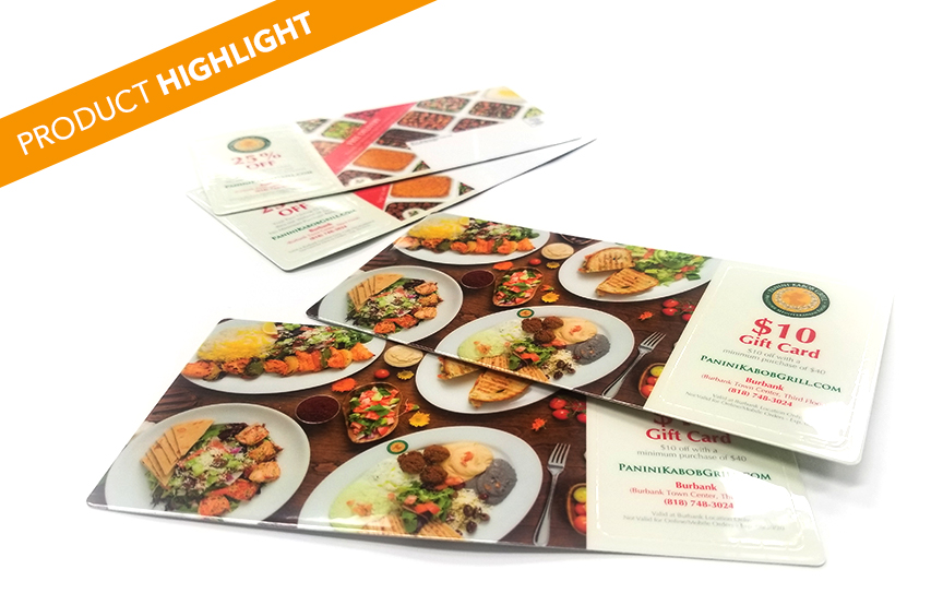 Product Highlight: Panini Restaurant Coupon Plastic Card